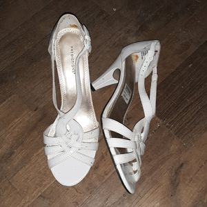 White High  heeled  sandals